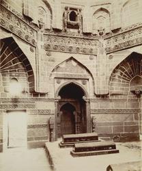 Tatta, Karachi District, Sindh. Interior of Jam Nizam-Ud-Din's Tomb